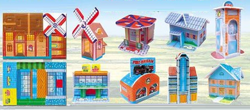 Building-Set of 8 styles