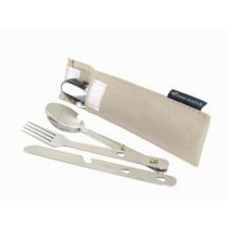 3 in1 cutlery set in nylon pouch