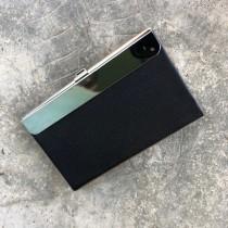 Black PU/Shiny Nickel Name Card Holder