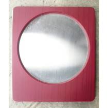 Plastic (Wood Pattern) Metal Coaster