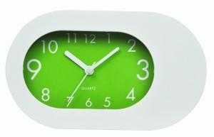 Plastic Table Alarm Clock - Green