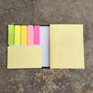 Sticky Note Book with Hard Cover