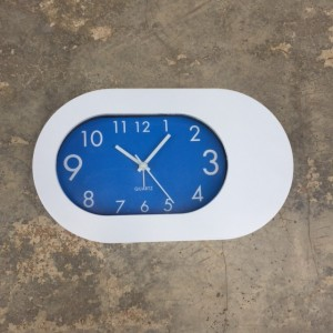 Plastic Table Alarm Clock- Blue