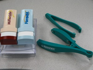 Double Foradil Memo & Paper Clip Dispenser and Nasal Speculum