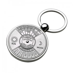 Metal Calendar Keychain