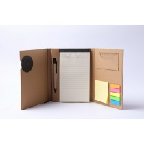 ECO NOTEBOOK WITH PEN/STICKY NOTES