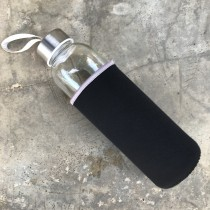 Glass Bottle With Case ( Gray Line Sleeve)