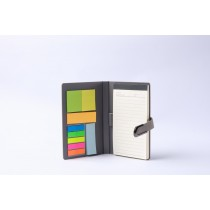 HARD COVER NOTEBOOK WITH STICKY NOTES