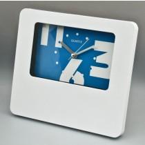 White Plastic Table/Wall Quartz Clock