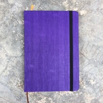 A 5 Size Note Book with color paper edge - Purple