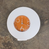 Plastic Table Alarm Clock - Orange