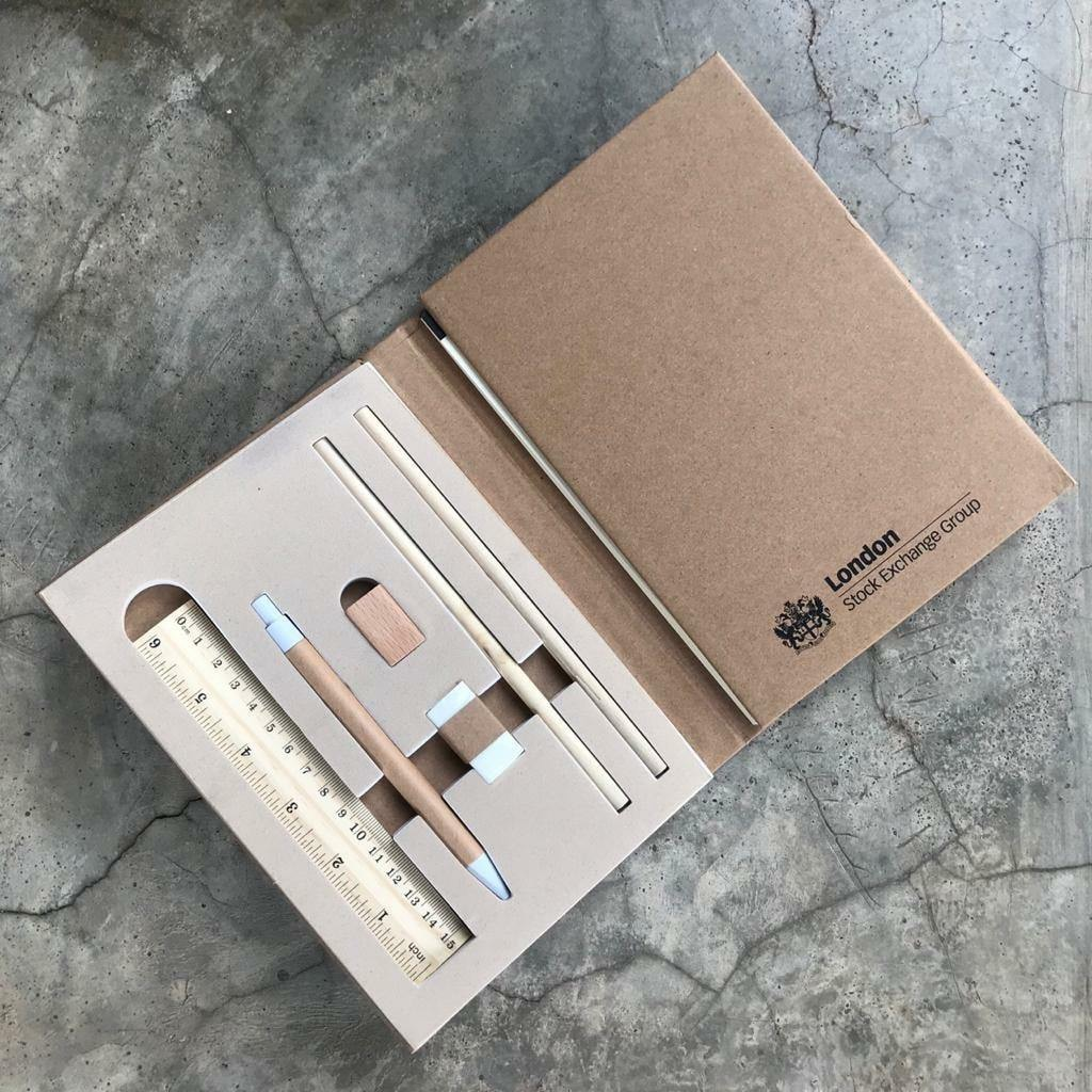 CUSTOMIZED ECO NOTEBOOK WITH STATIONARY